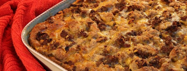 Sausage, Egg, and Cheese Crescent Roll Breakfast Casserole image